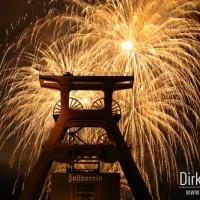 Feuerwerk auf Zeche Zollverein