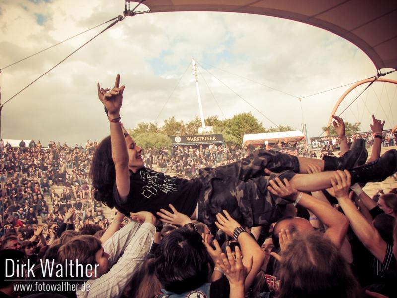 Rock Hard Festival 2011 Crowdsurfer