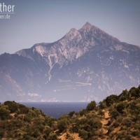 Halbinsel Sithonia - Blick auf den mächtigen Berg Athos