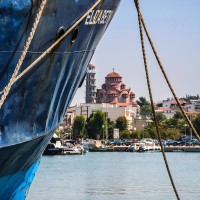 Insel Kassandra - Im Hafen von Nea Moudania