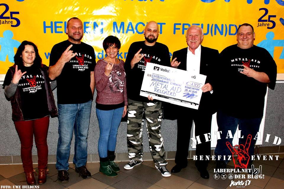 Metal Aid Reloaded Spendenübergabe