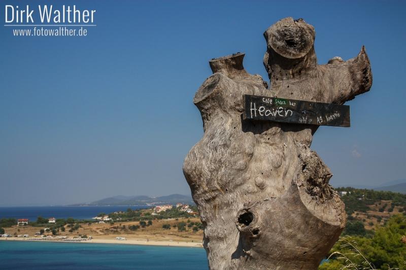 Halbinsel Sithonia - Aussicht mit Werbung