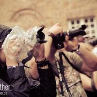 Fotografen beim Auftritt von Eisenherz