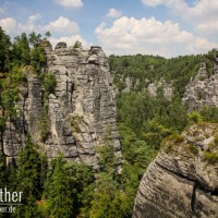 Felsen im Elbsandsteingebirge