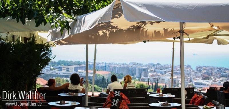 Café mit der vermutlich besten Aussicht auf Thessaloniki