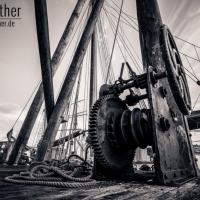 Alter Schiffskran im Flensburger Hafen