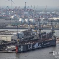 Aussicht auf den Hamburger Hafen
