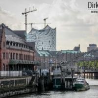 Blick auf die Elbphilharmonie