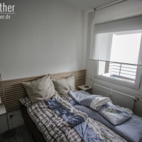 Schlafzimmer unserer Ferienwohnung