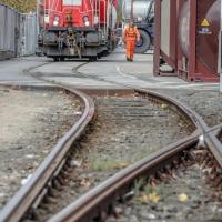 Lokomotive im Kieler Hafen