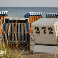 Strandkörbe am Strand von Damp