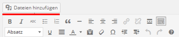 Wordpress Dateien hinzufügen