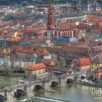 Aussicht auf Würzburg von der Festung Marienberg