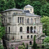 Blick auf eine Villa