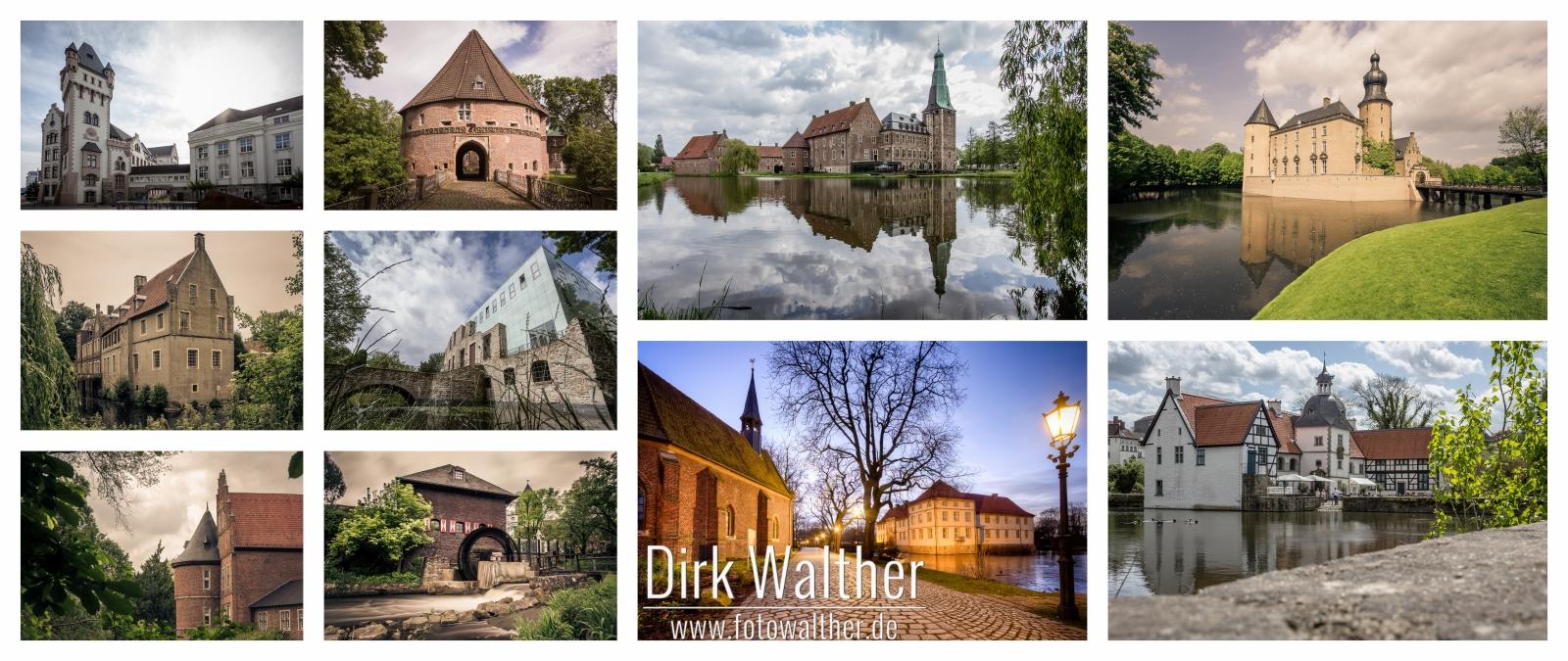 Collage: Burgen und Schlösser