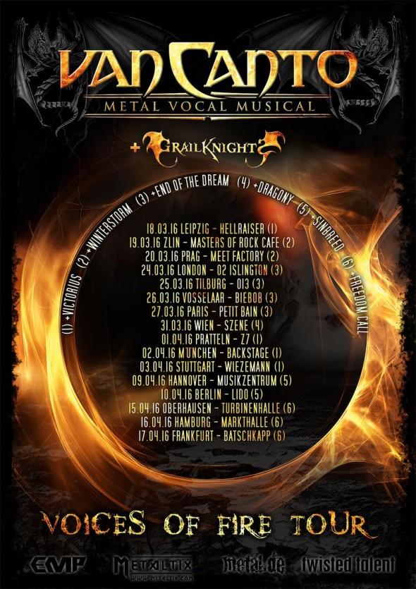 Van Canto - Voices of Fire Tour 2016