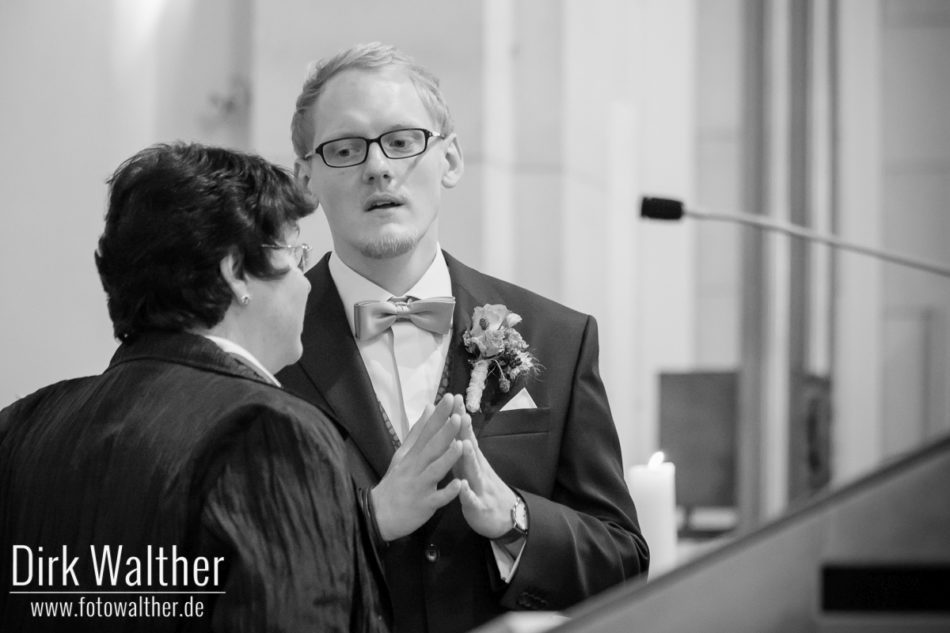 Der Bräutigam im Gespräch