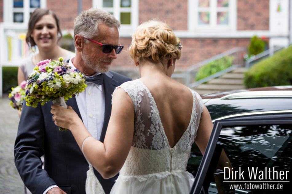 Hochzeit Pia & Alex - Ankunft der Braut