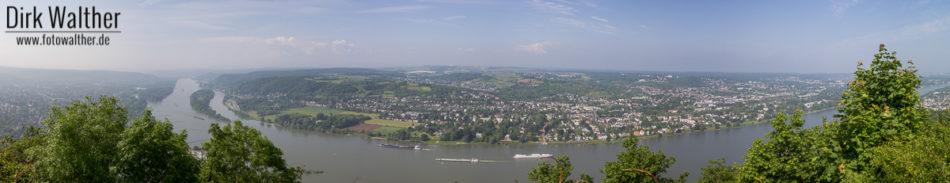 Panorama Blick über den Rhein