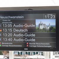 Anzeigetafel in Schwangau